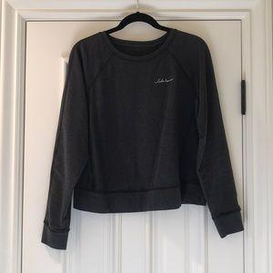 Lululemon dark grey crop pullover